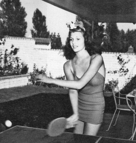 rita hayworth pin pong