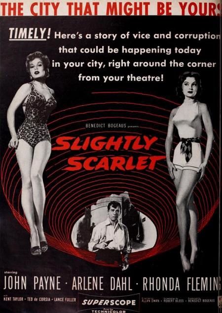 SLIGHTLY SCARLET poster red